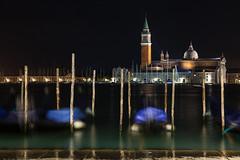 Night Relax [Explored] (Aesum) Tags: gondola gondolas night venice