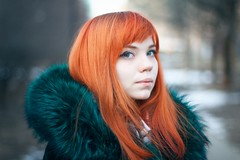 В-Весна (Chizury) Tags: ifttt 500px russia portrait girl beauty spring bokeh beautiful closeup adult cute female green caucasian looking young redhead women day outdoors redhair standing posing coat attractive color image one person head shoulders outerwear