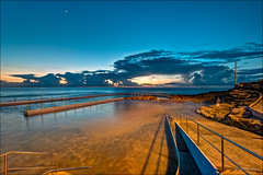 Imagination (JustAddVignette) Tags: venus australia beforedawn clouds early firstlight landscapes moon newsouthwales northernbeaches ocean pareidolia photographer reflections rockpool rocks seascape seawater sky southcurlcurl sydney water waves