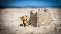 Sandcastle (#Weybridge Photographer) Tags: adobe lightroom canon eos dslr slr mk ii danbo danboard kiyohiko azuma manga cardboard box amazon robot character figure coast sea sand beach sandcastle