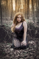 Forest Fantasy (Luv Duck - Thanks for 13M Views!) Tags: select celeste beautifulgirl beautifulbody alaskangirls curlyhair curvy youngmodel modeling forest girlinthewoods girlintheforest girlinaforest lingerie mystical