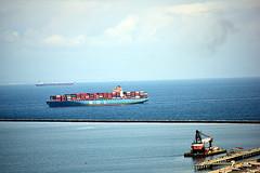DSC_1403-61 (jjldickinson) Tags: nikond3300 106d3300 sanpedro losangeles sky cloud lookoutpointpark ocean water shippingcontainer container ship containership portoflosangeles harbor nikon55200mmf456gedifafsdxvrnikkor promaster52mmdigitalhdprotectionfilter