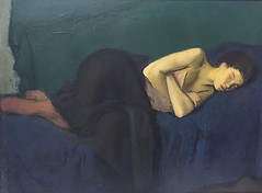 terminusantequem: Raphael Soyer (American, 1899-1987), Sleeping Girl, 1947–48. Oil on canvas, 30 × 41 1/8 in. (76.2 × 104.5 cm) (ArtAppreciated) Tags: fineart painting blogs tumblr artblogs artappreciated artoftheday artofdarkness artofdarknessco artofdarknessblog g