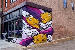 Purple and JC Rivera bears #wickerpark (drew*in*chicago) Tags: chicago street art artist people 2017 graffiti paint painter crew