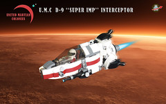 "U.M.C D-9 ""SUPER IMP"" Interceptor (Loysnuva) Tags: lego moc starfighter system real world 200 contest mars colonies bionifigs loysnuva pewpew united interceptor space"