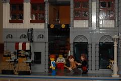 Doctor (sander_koenen92) Tags: lego modular house doctor dalek weeping angel jewelry food store