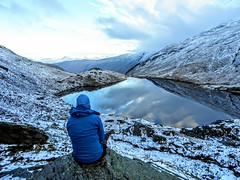 SMALL WATER, LAKE DISTRICT (pajacksonartist) Tags: small water tarn lake district national park lakedistrict lakeland landscape walker hiker contemplation snow stunning cumbria england