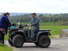 Viki and Eric (FloraandFauna_2) Tags: quad bike fir tree farm noth yorks