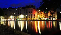 Canal Saint Martin (James Cassidy) Tags: paris france parigi river canal canalsaintmartain saintmartin canalsaintmartin fiume loghts city urban reflections water