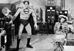 Kirk Alyn and Noel Neill in Superman (1948) (Tom Simpson) Tags: kirkalyn noelneill superman 1948 1940s vintage bondage rope tied bound loislane comics television vintagetelevision