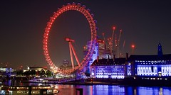 The colorful London eye (somabiswas) Tags: londoneye london unitedkingdom night lights thames river saariysqualitypictures