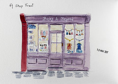 May daily challenge 18 - A shop front (chando*) Tags: aquarelle watercolor sketch croquis