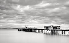 Penarth , South Wales (andrebelg) Tags: penarth south wales bw uk long exposure