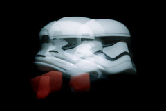 first order stormtrooper officer (an experiment) (jooka5000) Tags: experimental starwars light motion firstorder lego portrait photo artistic creative toys photography legography