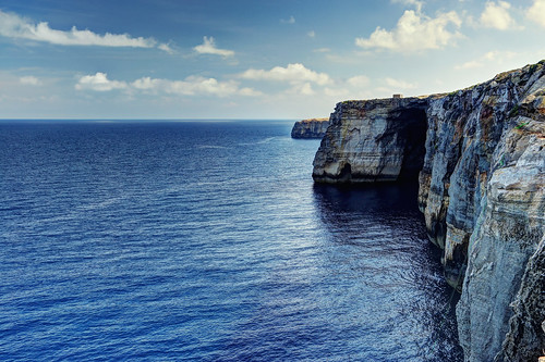 Cliffs in the north coast of Gozo island