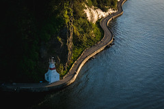 Vancouver Classic (thebrownspy) Tags: lighthouse seawall sea ocean run bike stanleypark prak lionsgatebridge fuji vancouver fujixt2 xt2 cropped sunset