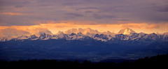 Alps Again ... (Rogg4n) Tags: vuedesalpes mountain montagne chaîne sunrise dawn rain color switzerland neuchâtel panorama goldenhours sky clouds landscape inconic typical alps efs18135mmf3556isstm dramatic morning spring pink peak snow sumit europe mounts valley swiss landmark outdoor suisse schweiz light canon landschaft wonderland nature oniric dreamscape pluie sun weather canoneos80d