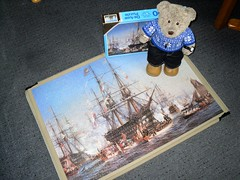 Shipshape an' Bristol Fashunn! (pefkosmad) Tags: jigsaw puzzle hobby leisure pastime tedricstudmuffin teddy bear ted cute stuffed toy animal plush fluffy soft softie cuddly