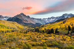 Colorado Classic Autumn Sunset (b_mccarley) Tags: ouray colorado co fall autumn nature natural landscape color colorful aspens aspen trees mountain rocky mountains rockymountains