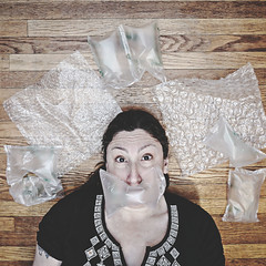 Handle with Care / 116.365 (sadandbeautiful (Sarah)) Tags: me woman female self selfportrait 365daysx8 365days day116 plasticwrap