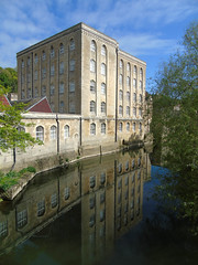 Mill on the Avon (Oxford Murray) Tags: wiltshire mill historic spring reflection river riverside bradfordonavon heritage beauty bluesky oxfordmurray