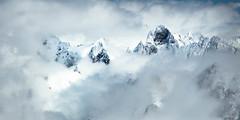 Aiguille de Leschaux (françoiskratzeisen) Tags: aiguille de leschaux chamonix mont blanc du midi nuage neige winter hiver printemps roche montagne rock alpinisme alpes paysage ambiance kratzeisen françois 6d canon 2017