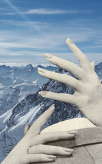 as ice. (// P*) Tags: collage retro man woman love mountains ice landscape