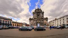 Saint-Aubain (Yasmine Hens +4 800 000 thx❀) Tags: cathédrale cathédralesaintaubain hdr 8mm namur belgium belgique church hensyasmine sky bluesky clouds