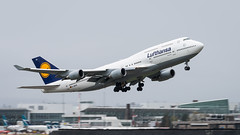 D-ABVS - Lufthansa - Boeing 747-430 (bcavpics) Tags: dabvs lufthansa boeing 747 744 jumbo jet aviation aircraft airliner airplane plane yvr vancouver britishcolumbia canada bcpics