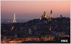 Paris (Philippe Cottier (PH.C)) Tags: paris france eiffeltower tour toureiffel montmartre sacrécoeur skyline europe cityscape ville ciel sky sunsettime urban panorama eiffelturm parigi francia city coucherdesoleil romantic roof toits