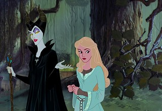 Maleficent and Aurora Live Action