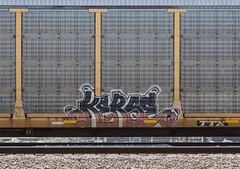 (o texano) Tags: houston texas graffiti trains freights bench benching kerse amfm