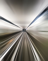 Speed on the Metro (jeffclouet) Tags: paris france capital europe couleur color colour nikon nikkor d7100 metro station parada rer subway tunnel tunel tube vitesse velocidad velocity flou blur transport l1 speed abstract abstracto abstrait lines lignes urban urbain urbano underground city cuidad ville downtown graphic graphique grafico itried