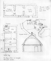Plans and section of Trulli houses, Alberobello, 18th April 2017