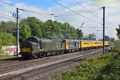 37057/73962 Bedford South Jn 7th May 2017 (Lorenzo's Modern Traction) Tags: 37057 73962 1q79 cricklewood depot derby rtc bedford south junction mml 73963