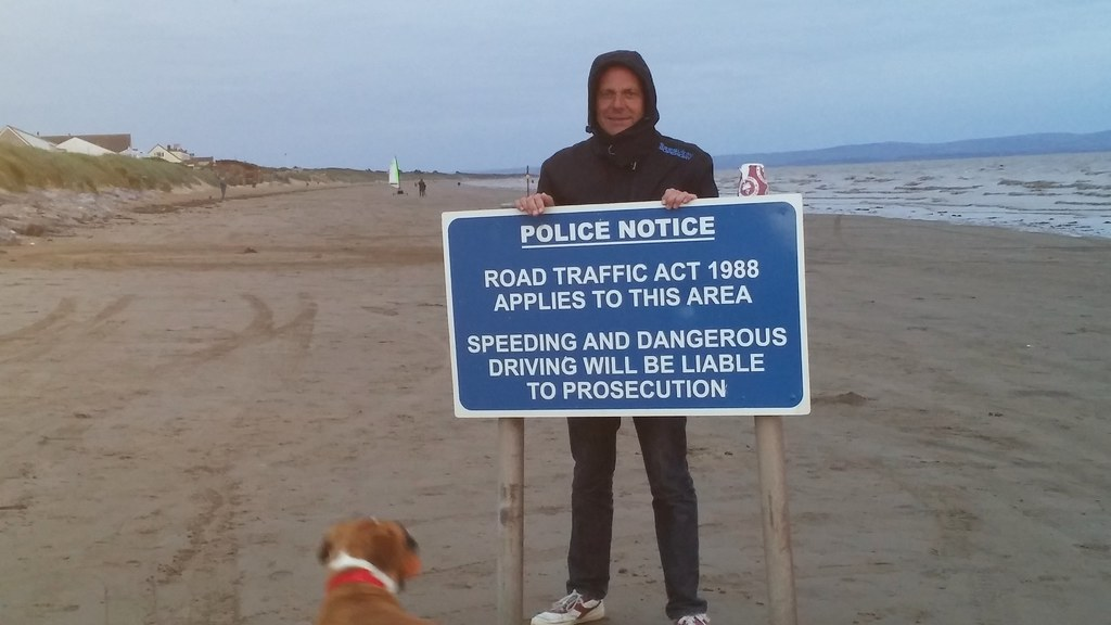 Brean Sands Warning