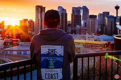 That Sunset (Rob Moses) Tags: calgary alberta canada yyc sunset sunsets skyline city urban metro downtown buildings condos apartments calgarytower spring sky sunburst flair flare lensflare fuji fujifilm xe1 canonfd 50mm 50mm12 f12 legacy vintage classic manualfocus oldlens selfie selfportrait timer culturalblends hoodie washington oregon california thebestcoast nativeamerican tlingit view mirrorless vsco beautiful pretty amazing wonderful travel explore