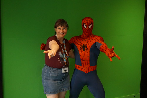 "Universal Studios, Florida: Tracey and Spider-Man • <a style=""font-size:0.8em;"" href=""http://www.flickr.com/photos/28558260@N04/34365341640/"" target=""_blank"">View on Flickr</a>"