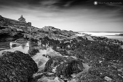 The Bathing House - Howick, Northumberland (Silent Eagle  Photography) Tags: sep silent eagle photography silenteaglephotography canon canoneos5dmarkiii bw monochrome longexposure leefilters stops bigstopper rocks sea seascape reflection sky clouds outdoor northumberland thebathinghouse holidaycottage iso50