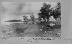 Lake Winnipeg - First Nations camp near the Little Saskatchean River, 1890 (vintage.winnipeg) Tags: vintage history historic manitoba canada lakewinnipeg
