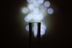 Bokeh (~Miel) Tags: bokeh esercizio experiment esperimento luci lucibianche lights bottle glass sfocato nikkor50mm nikkor nikond5200 nikon ombre shadows beginner principiante tentativo test noperson