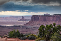 Fading Storm (Kirk Lougheed) Tags: candlesticktower canyonlands canyonlandsnationalpark grandview grandviewpoint grandviewpointoverlook islandinthesky usa unitedstates utah canyon cliff cloud landscape nationalpark outdoor sky