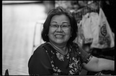 The last shopkeeper on the block (waex99) Tags: 04 2017 400s 90mm epson leica m6 retro rollei elmarit everton lugs v500 woodlands woman shop shopkeeper femme chinese singapore portrait bw black white nb noir blanc film analog argentique people