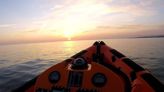 Sunset captured by a crew members helmet camera during a callout
