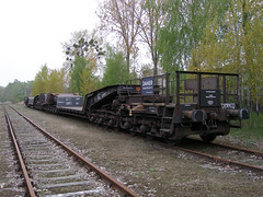 Uaais819 9953 208-9 016 (Groch1) Tags: daher daherprojects uaais uaais819 wagonspecjalny tiefladewagen łódźżabieniec lodz abb 358099532089 waggonunion