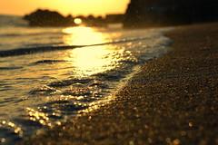 eternity (joy.jordan) Tags: beach sand spray sunset light bokeh texture nevis westindies blacksandcove ocean