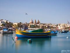 Marsaxlokk --- Malta (Drinu C) Tags: adrianciliaphotography sony dsc rx10iii rx10 mk3 marsaxlokk malta landscape seascape boat sea longexposure benro