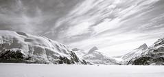 Path to Enlightenment (fotostevia) Tags: alaska chugachrange snow ice portagelake portagelakealaska mountains sky bw monochrome blackandwhite