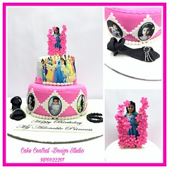 Princess Cake #princess # #designerca#designer #cake #pink #daughter #fondant #newdelhi #gurgaon #noida #cakedelivery #online #buy #order  #delhi #fondant #themed #kidscake (Cake Central-Design Studio) Tags: firstbrthday designercake delhi fondant themed kidscake