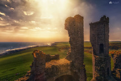 I'm the king of the castle... (Kerriemeister) Tags: castle ruins northumberland dunstanburgh craster sky sea coast coastal top view